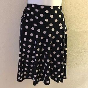 Maurice's polka dot skirt